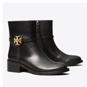 NEW Tory Burch Miller Ankle Booties Black  Size 7